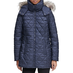 Womens Marc New York Quilted Polyfill Puffer Coat