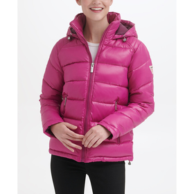 Womens Guess Horizontal Quilted Puffer Jacket With