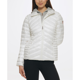 Womens Guess Cire Packable Down Jacket with Remova