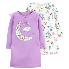 Girls Carter's® 2pk. Long Sleeve Fairy and Floral
