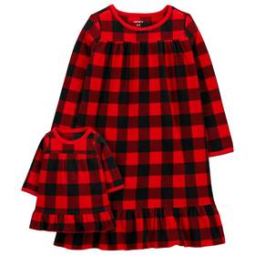 Girls Carter's® Buffalo Check Nightgown and Doll N