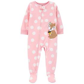 Baby Girl (12-24M) Carter's® Squirrel Dot Footed S