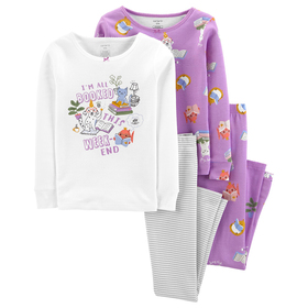 Girls (4-6x) Carter's® 4pc. I'm All Booked Pajama