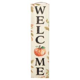 My Word Stand Out Welcome Pumpkin Porch Board