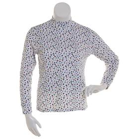 Womens Hasting & Smith Autumn Elements Mock Neck T