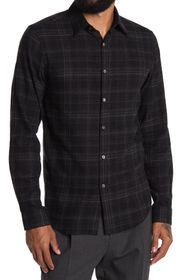 THEORY Irving Plaid Classic Fit Cotton Shirt