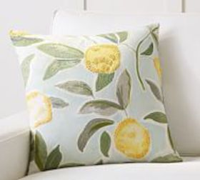 Pottery Barn Rebecca Atwood Lemon Embroidered Pill