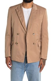 VALENTINO Camel Notch Collar Two Button Jacket