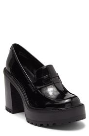 MADDEN GIRL Kassidy Lug Sole Patent Penny Loafer (