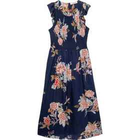 Angie Floral Dress - Short Sleeve (For Girls) in W