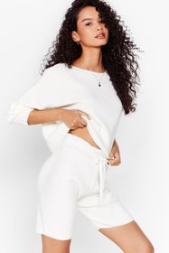 Nasty Gal Take Knit Easy Sweater and Shorts Lounge