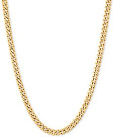 """18""""-22"""" Miami Cuban Link Chain Necklace (3mm) in 1"""