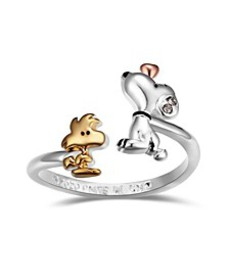 Snoopy and Woodstock Bypass Ring