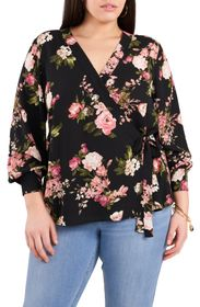 VINCE CAMUTO Beautiful Blooms Side Tie eorgette Bl