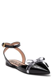 MOSCHINO Logo Bow Pointed Tow Flat (Women)