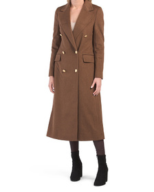 Made In Italy Virgin Wool Long Button Coat