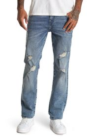 TRUE RELIGION Ricky No Flap Distressed Jeans