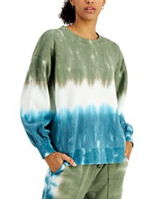 Tie-Dyed Colorblocked Sweatshirt, Created for Macy