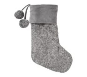 Pottery Barn Speckled Coat Faux Fur Stocking