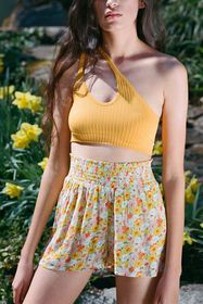 Out From Under Beach Smocked Waist Short