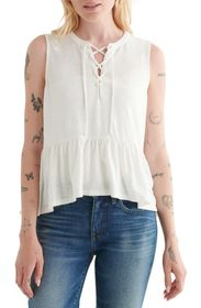 LUCKY BRAND Lace Up Tank