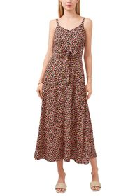 VINCE CAMUTO Floral Tie Front Sleeveless Maxi Dres