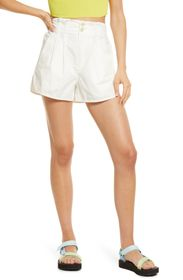 FREE PEOPLE Pleated Shorty Pull-On Shorts