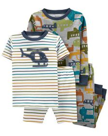 carters 4-Piece Helicopter 100% Snug Fit Co...