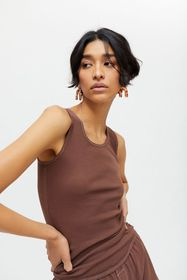 Urban Renewal Recycled Overdyed Ribbed Tank Top