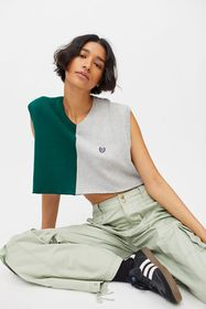 Urban Renewal Recycled Cropped & Spliced Sweater V