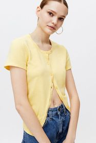 Urban Renewal Recycled Short Sleeve Sweater Top