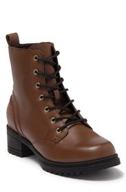 COLE HAAN Leather Lug Sole Combat Boot (Women)