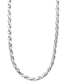 """Sterling Silver Necklace, 16-24"""" Diamond Cut Rope"""