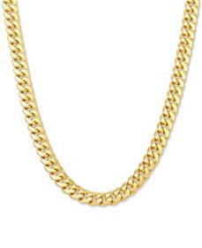 """Miami Cuban Link Chain Necklace 18-26"""" in 10k Yell"""
