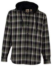 RedHead Hooded Jersey-Lined Flannel Long-Sleeve Sh