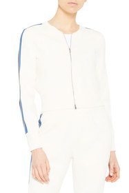 Theory Compact Knit Cropped Bomber Jacket