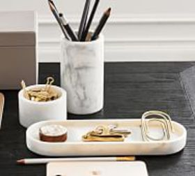Pottery Barn Marble Desk Accessories Collection