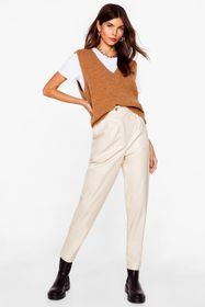 Nasty Gal Faux Leather Loose Straight Leg Pants