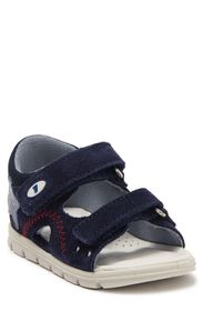 NATURINO Leather Double Strap Sandal (Toddler)