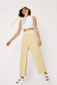 Nasty Gal High Waisted Check Print Culotte Trouser