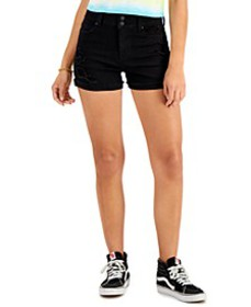 Juniors' Two-Button Shorts