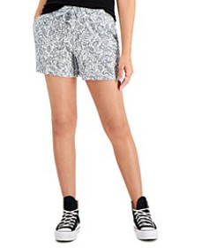 Petite Printed Track Shorts, Created for Macy's