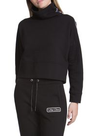 JUICY COUTURE Stand Collar Fleece Pullover