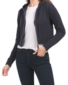 Recycled Cashmere Krystie Cropped Hoodie