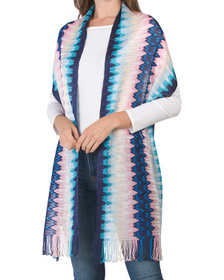 Made In Italy Chevron Fringe Scarf