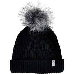 Chaos Ribbed Knit Cuffed Beanie (For Women) in Bla