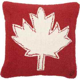 Chandler 4 Corners Canadian Maple Leaf Hand-Hooked