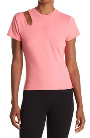 NINE WEST Fitted Cut Out Short Sleeve Top