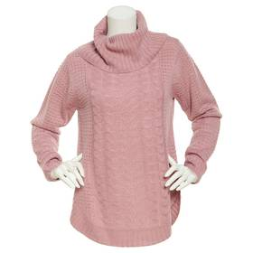 Plus Size Jason Maxwell Long Sleeve Cable Pullover