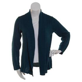 Plus Size Jason Maxwell Long Sleeve Cable Solid Op